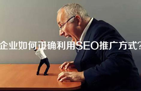 企业如何正确利用SEO推广方式?